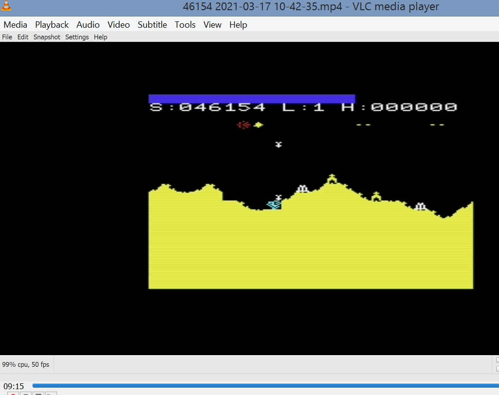 LuigiRuffolo: Martian Raider (Commodore VIC-20 Emulated) 46,154 points on 2021-03-17 05:56:22