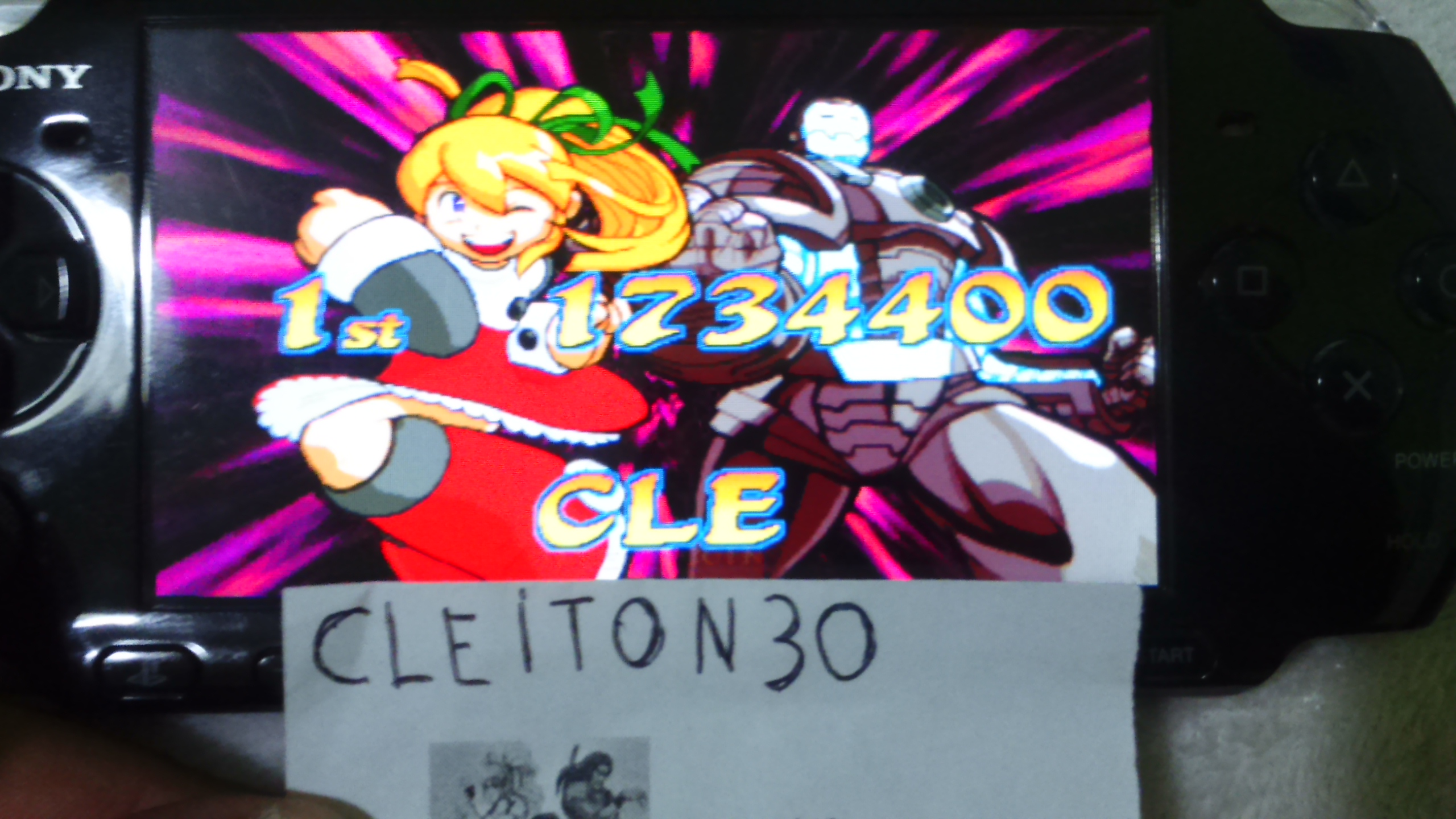 Cleiton30: Marvel vs. Capcom: Clash of Super Heroes (Arcade Emulated / M.A.M.E.) 1,734,400 points on 2016-05-21 19:09:35