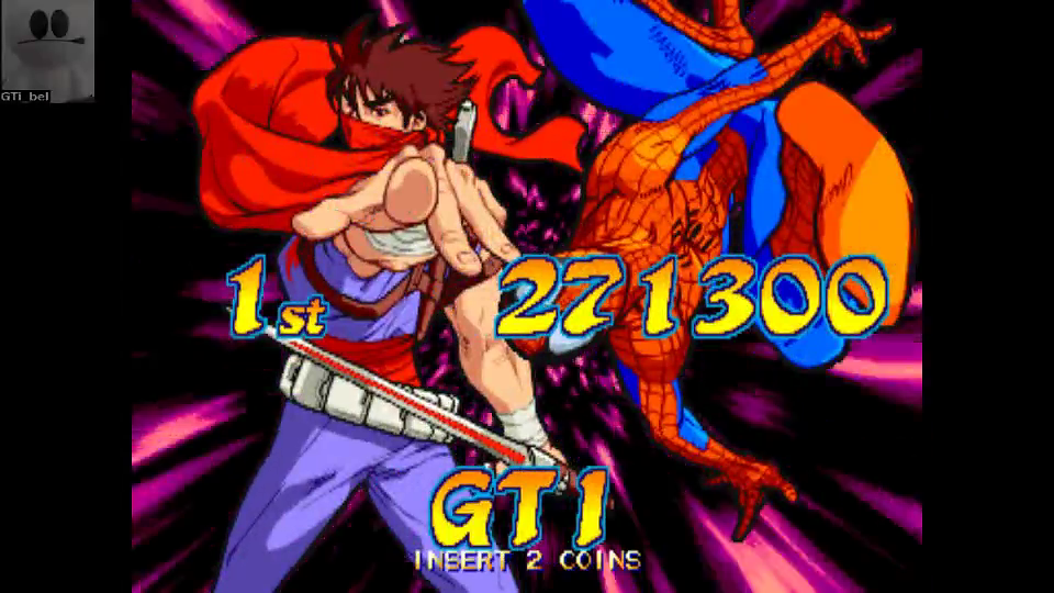 GTibel: Marvel vs. Capcom: Clash of Super Heroes (Arcade Emulated / M.A.M.E.) 271,300 points on 2016-08-01 12:22:56