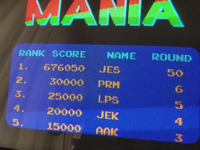 JES: Mat Mania (Arcade Emulated / M.A.M.E.) 676,050 points on 2017-12-10 18:52:46