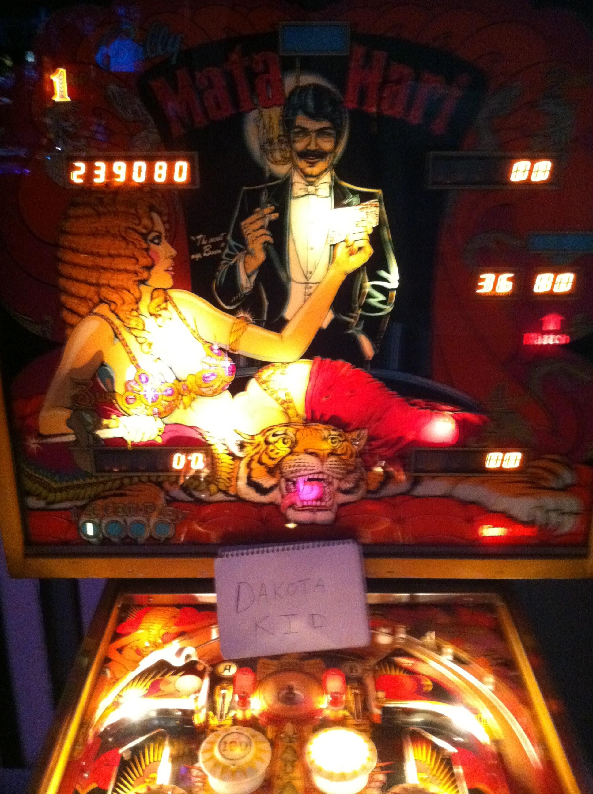 DakotaKid: Mata Hari (Pinball: 5 Balls) 239,080 points on 2018-10-11 19:58:11