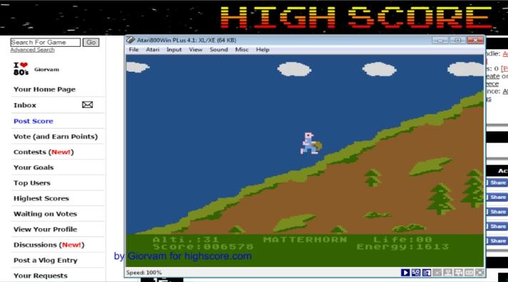Giorvam: Matterhorn (Atari 400/800/XL/XE Emulated) 6,578 points on 2016-10-24 07:39:35