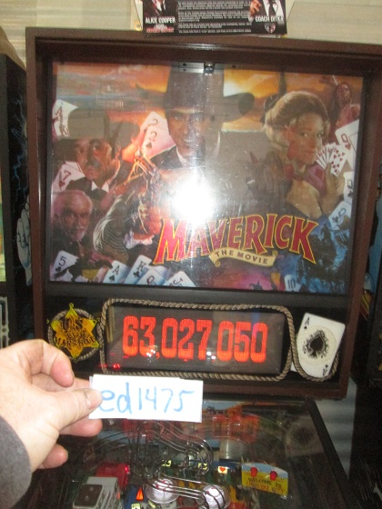 ed1475: Maverick (Pinball: 3 Balls) 63,027,050 points on 2017-03-26 16:07:30