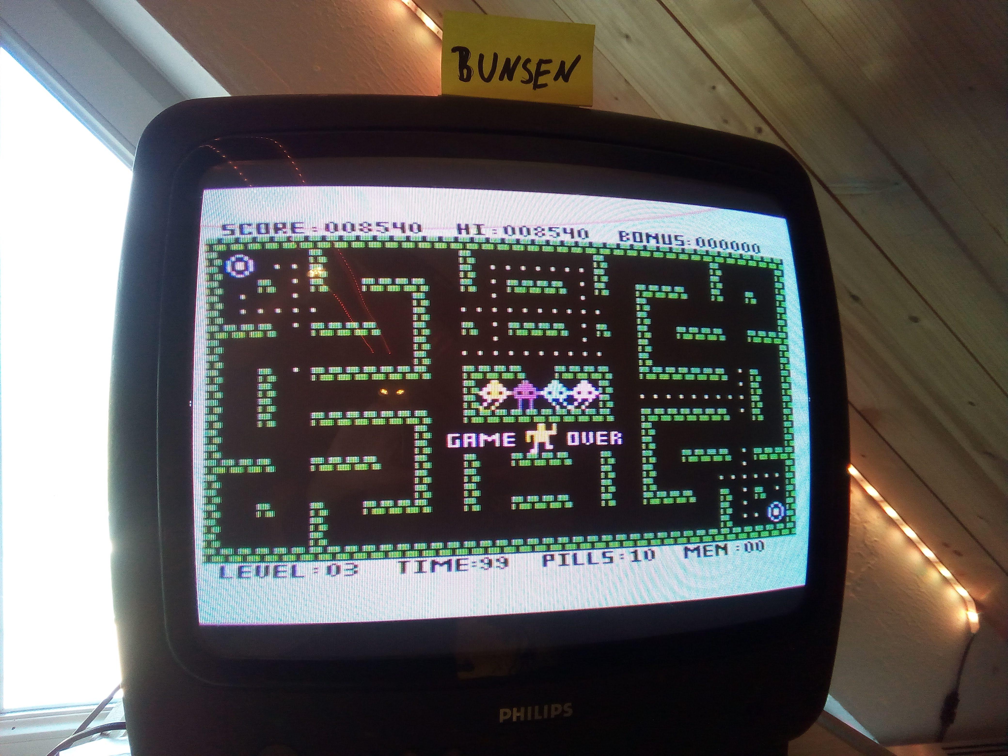 Bunsen: Maze Master (Atari 400/800/XL/XE) 8,540 points on 2020-04-25 16:10:37