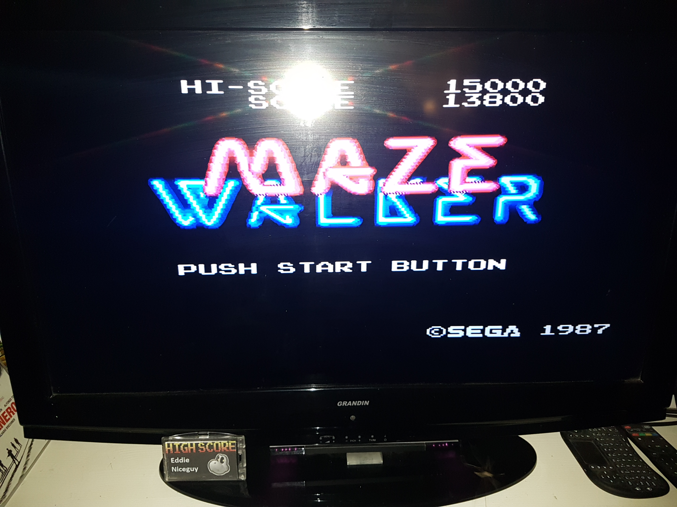 EddieNiceguy: Maze Walker (Sega Master System Emulated) 15,000 points on 2019-10-04 16:20:31