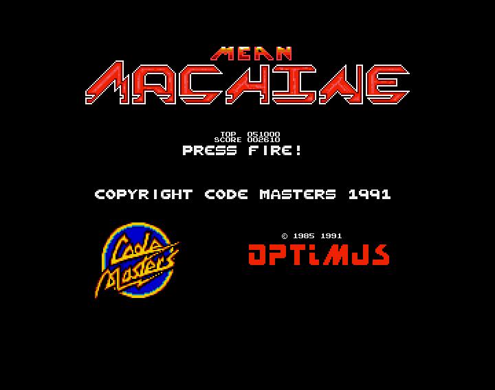 GAMES: Mean Machine (Amiga) 2,610 points on 2019-12-21 07:11:36