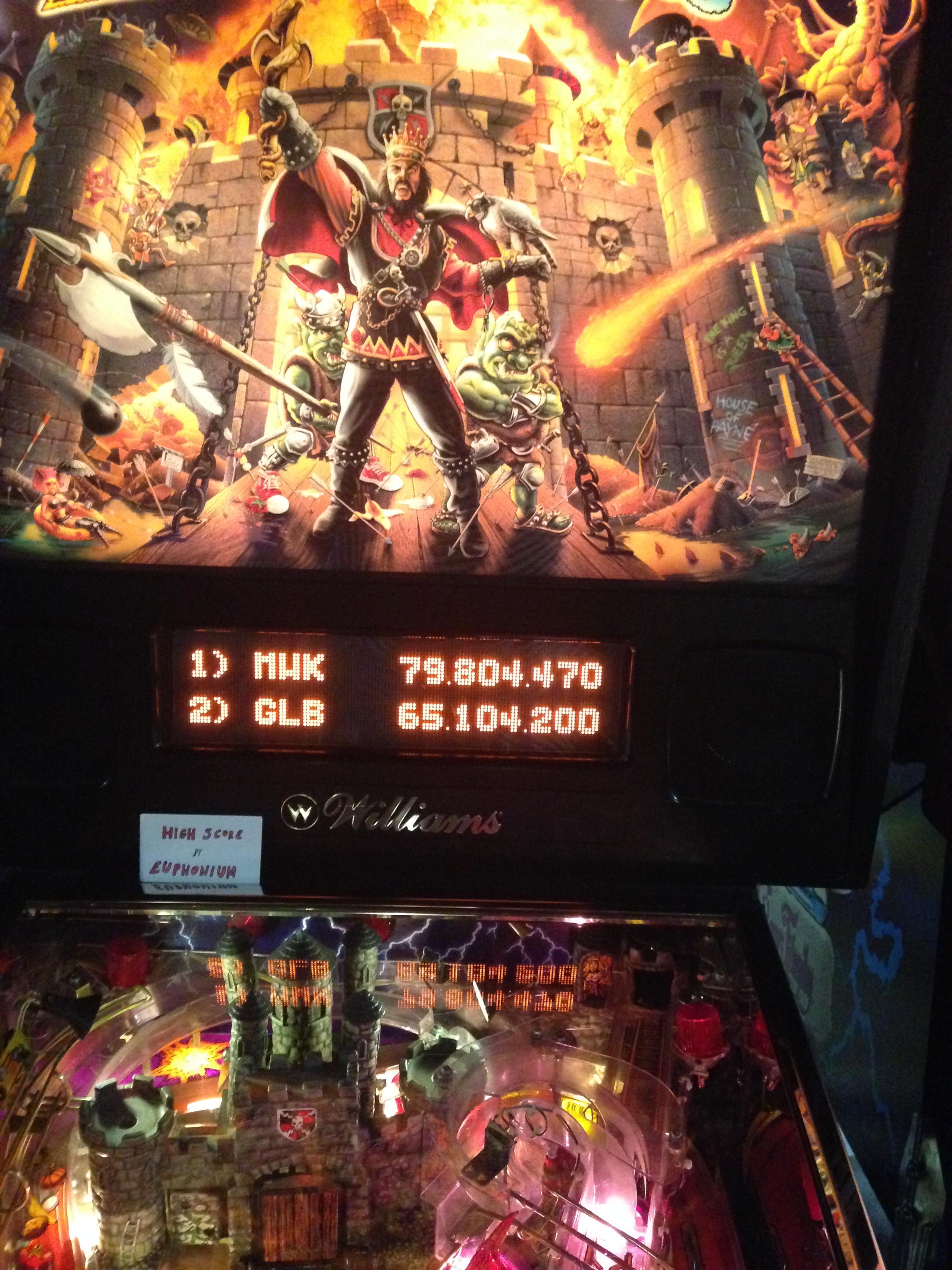 euphonium: Medieval Madness (Pinball: 3 Balls) 79,804,470 points on 2017-02-22 23:46:29