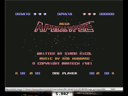 S.BAZ: Mega Apocalypse (Commodore 64 Emulated) 3,870 points on 2016-05-28 16:33:35