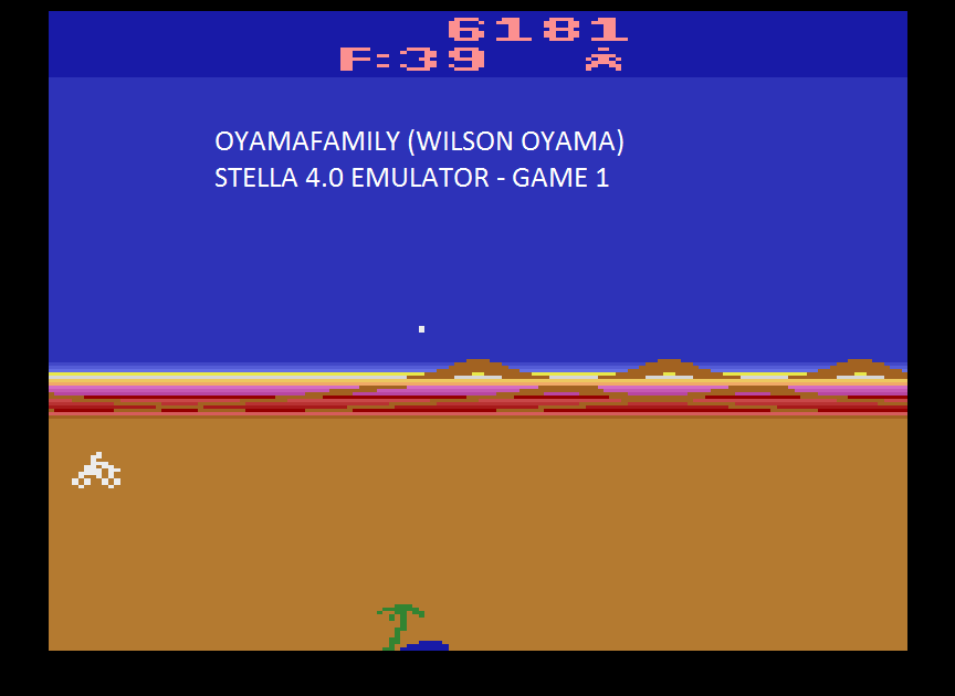 oyamafamily: Mega Force (Atari 2600 Emulated Novice/B Mode) 6,181 points on 2015-08-28 18:03:35