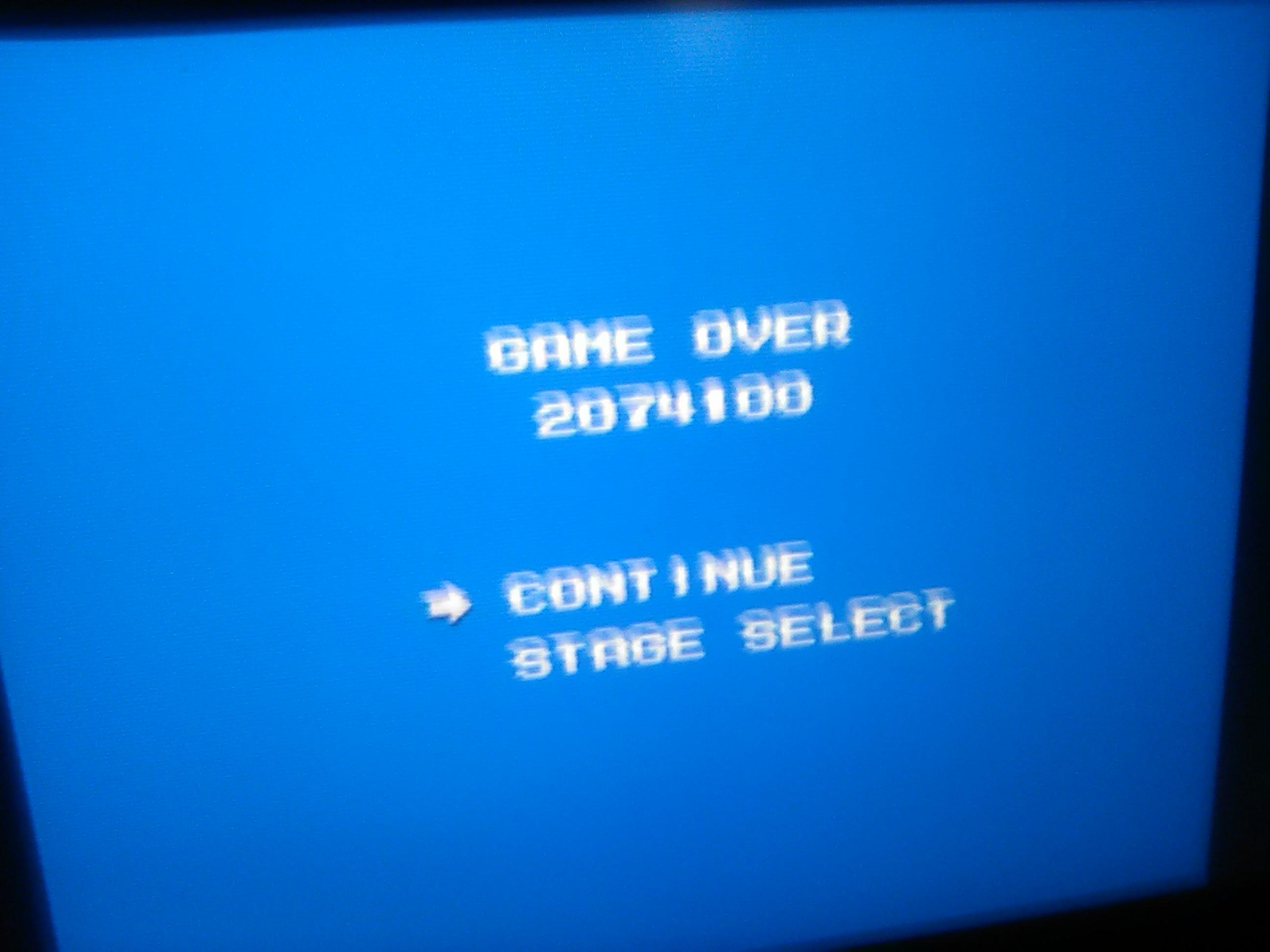 Scorechaserpony: Mega Man (NES/Famicom Emulated) 2,074,100 points on 2018-12-23 16:02:42