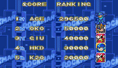 Mega Man: The Power Battle [megaman] 296,500 points