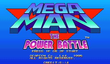 GAMES: Mega Man: The Power Battle [megaman] (Arcade Emulated / M.A.M.E.) 318,205 points on 2020-02-16 02:32:39