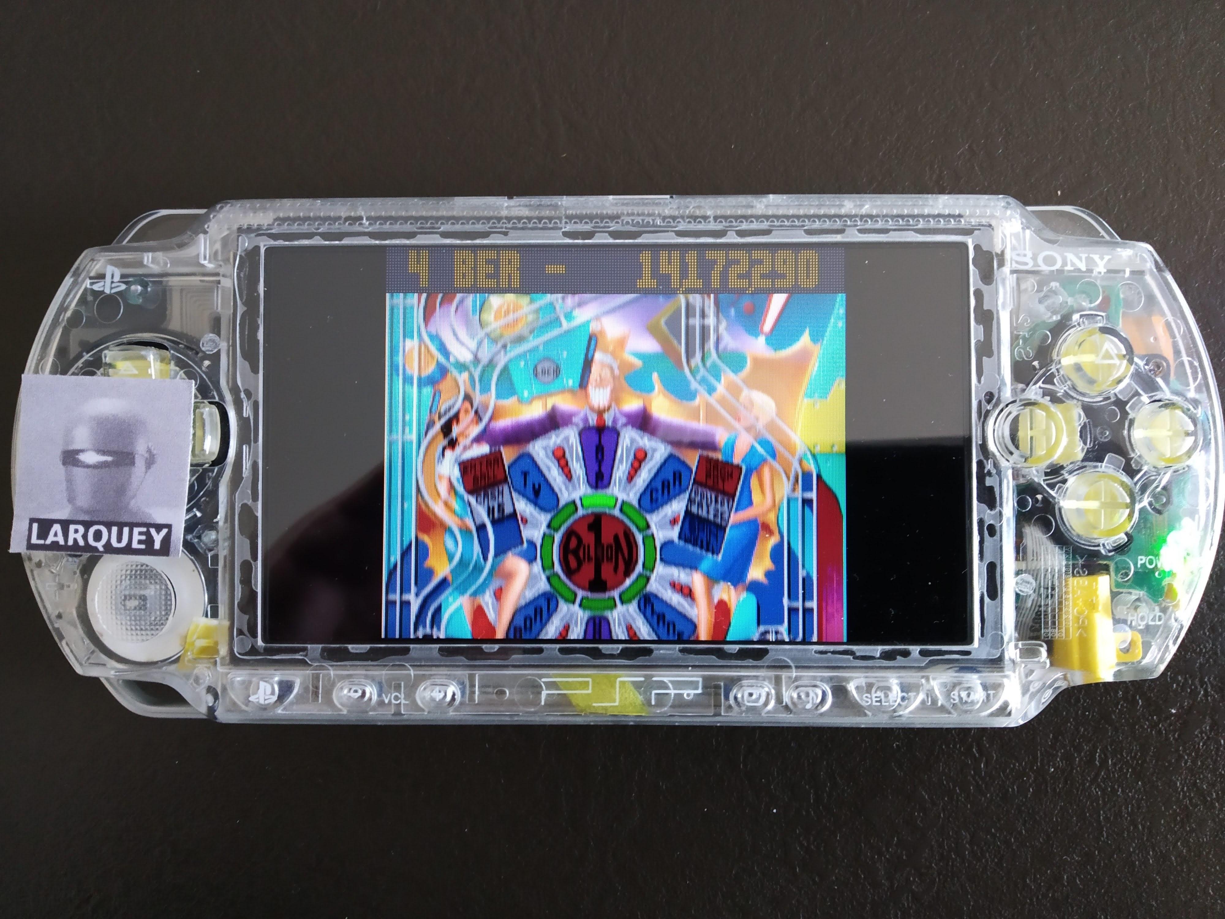 Larquey: Mega minis Volume 1: Pinball Fantasies: Billion Dollar Gameshow (PSP) 14,172,290 points on 2020-07-25 12:55:01