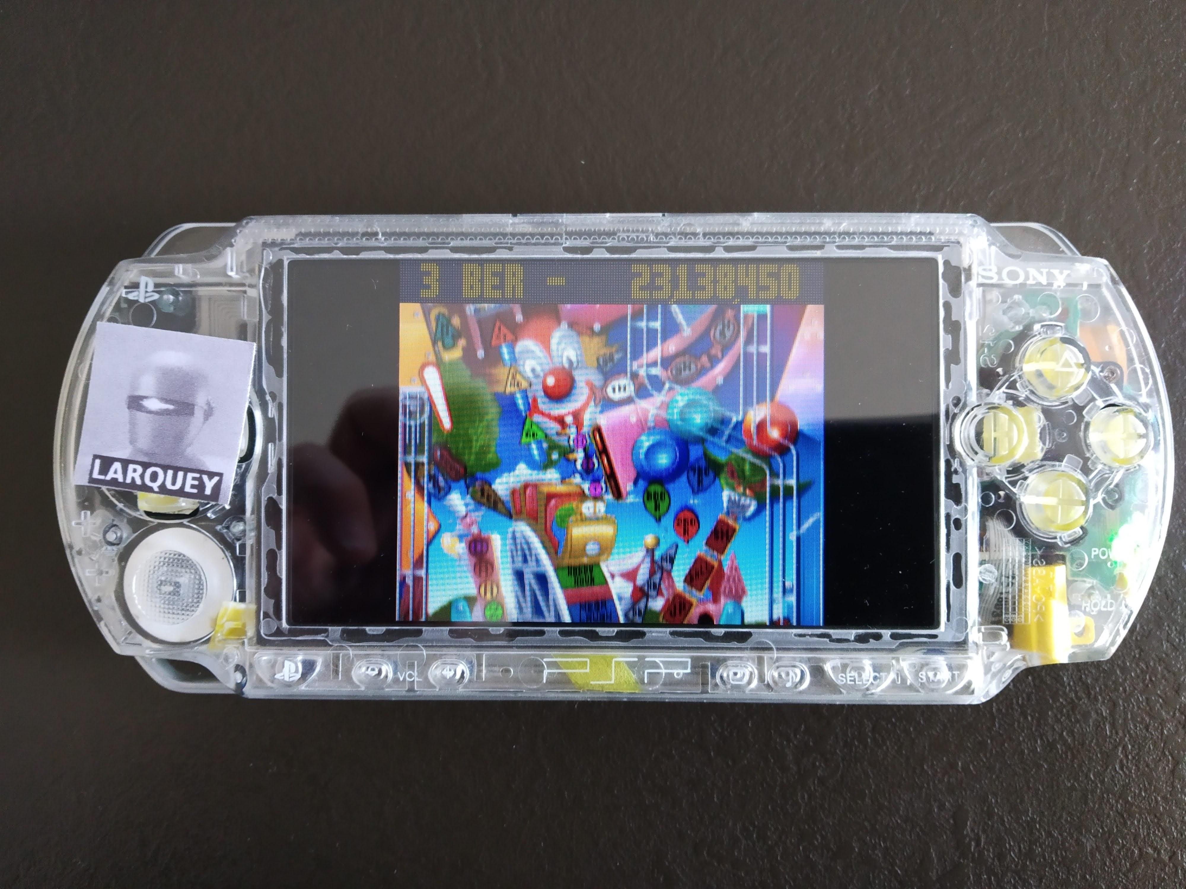 Larquey: Mega minis Volume 1: Pinball Fantasies: Partyland (PSP) 23,138,450 points on 2020-07-25 12:16:55