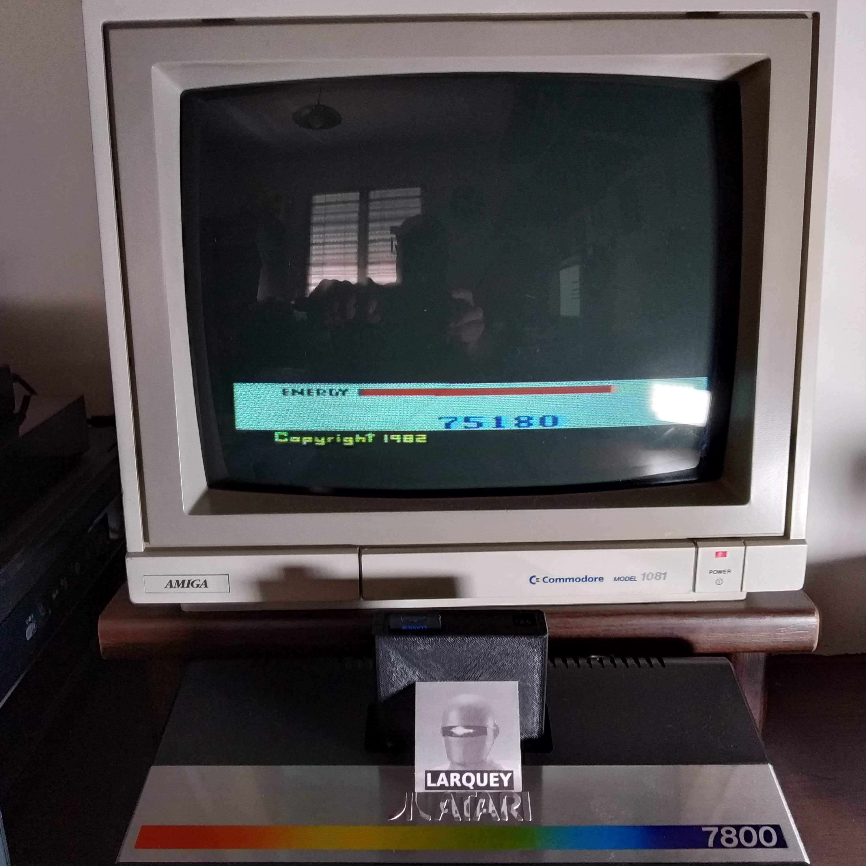 Larquey: Megamania: Game 3 [Straight Missiles] (Atari 2600) 75,180 points on 2020-07-18 09:36:54