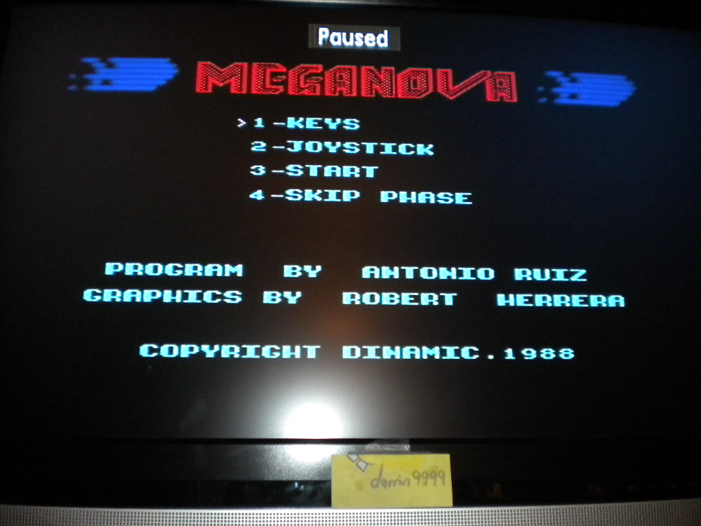darrin9999: Meganova (ZX Spectrum Emulated) 2,300 points on 2016-08-14 13:08:41