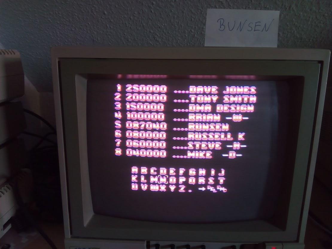 Bunsen: Menace [Rookie] (Amiga) 87,040 points on 2021-05-22 08:36:55