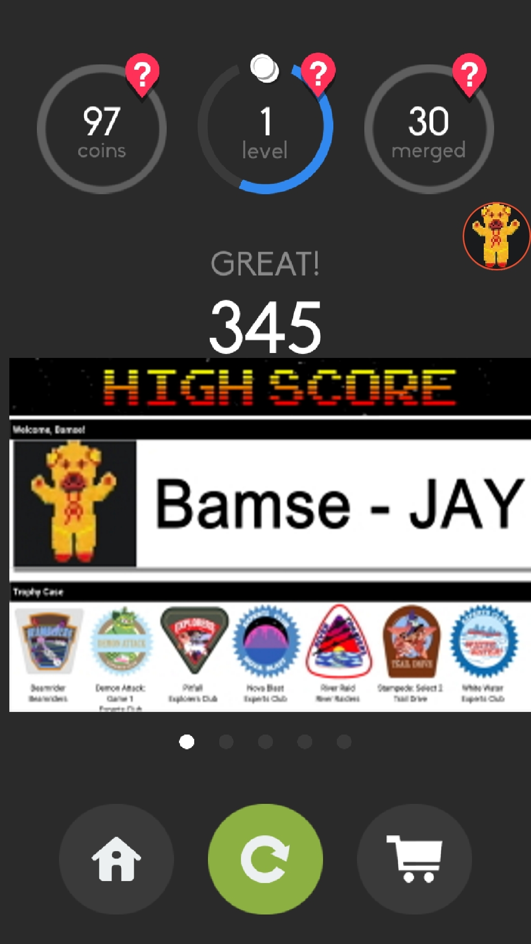 Bamse: Merged! (Android) 345 points on 2019-12-30 17:26:23