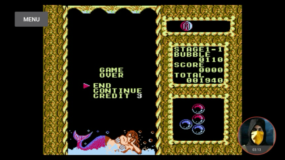 omargeddon: Mermaids of Atlantis [Easy/Stage 1/Level 1] (NES/Famicom Emulated) 1,940 points on 2018-04-25 18:06:50