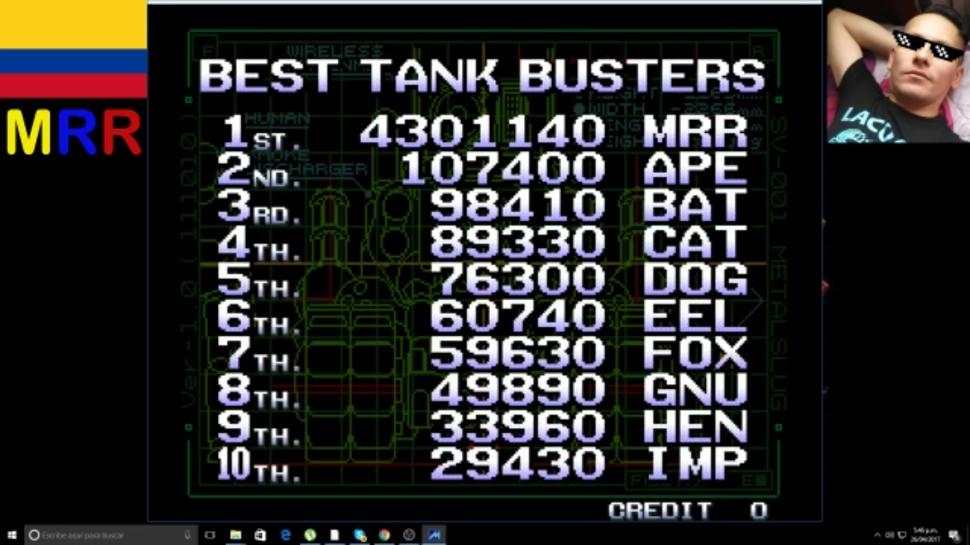 AmoKronos: Metal Slug 2 (Neo Geo Emulated) 4,301,140 points on 2017-04-29 07:06:35