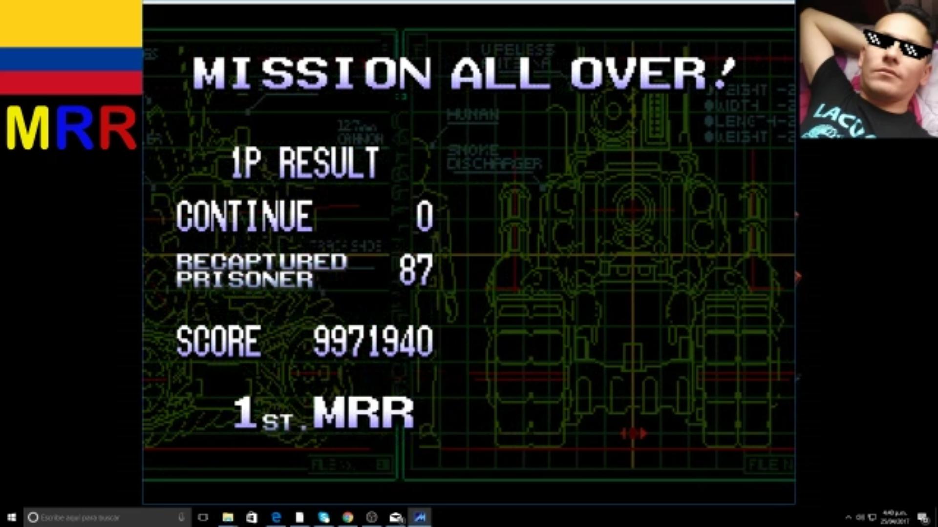 Metal Slug 3 9,971,940 points