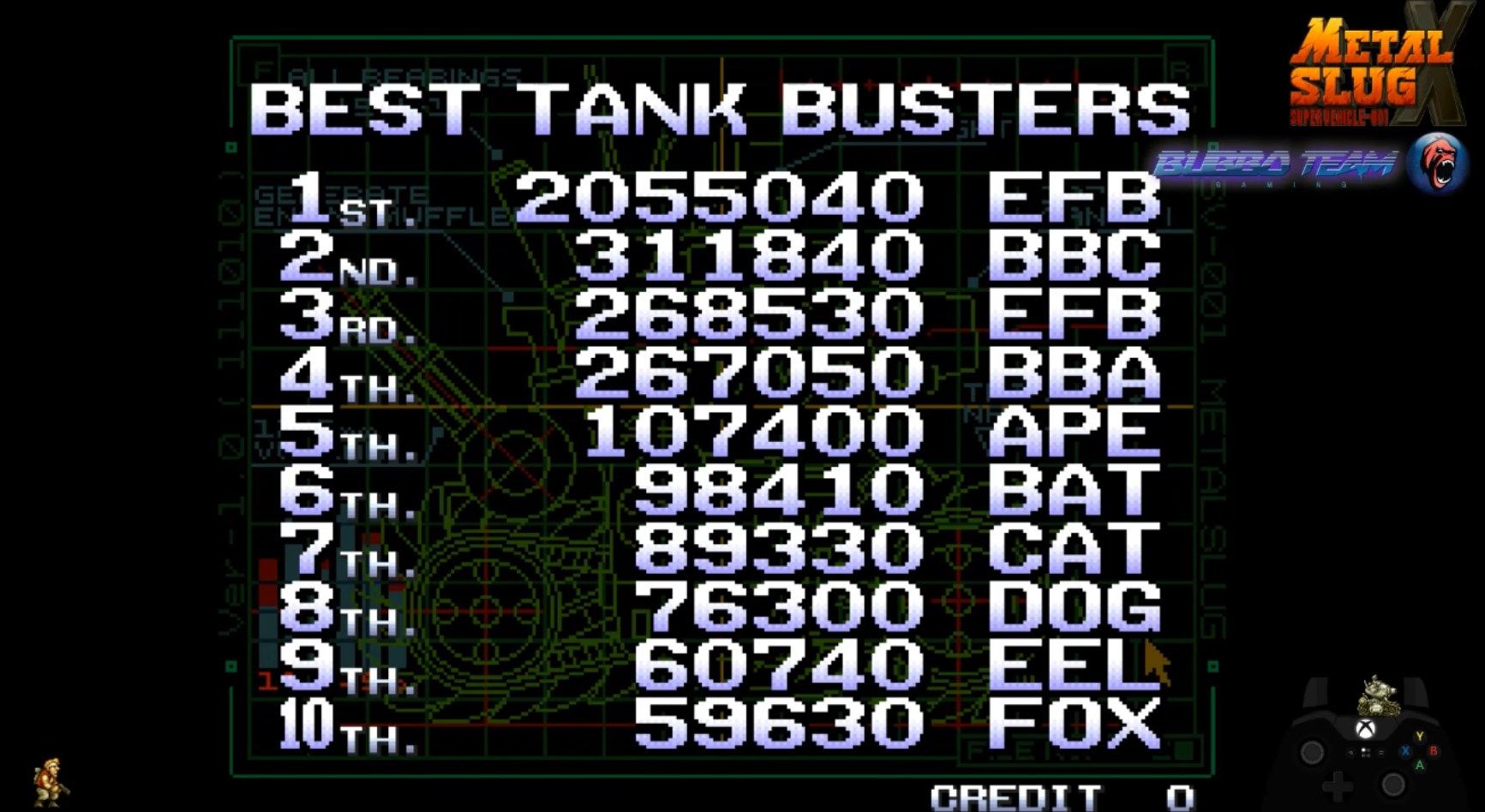 BubboTeam: Metal Slug X (Arcade Emulated / M.A.M.E.) 2,055,040 points on 2018-10-10 17:15:50