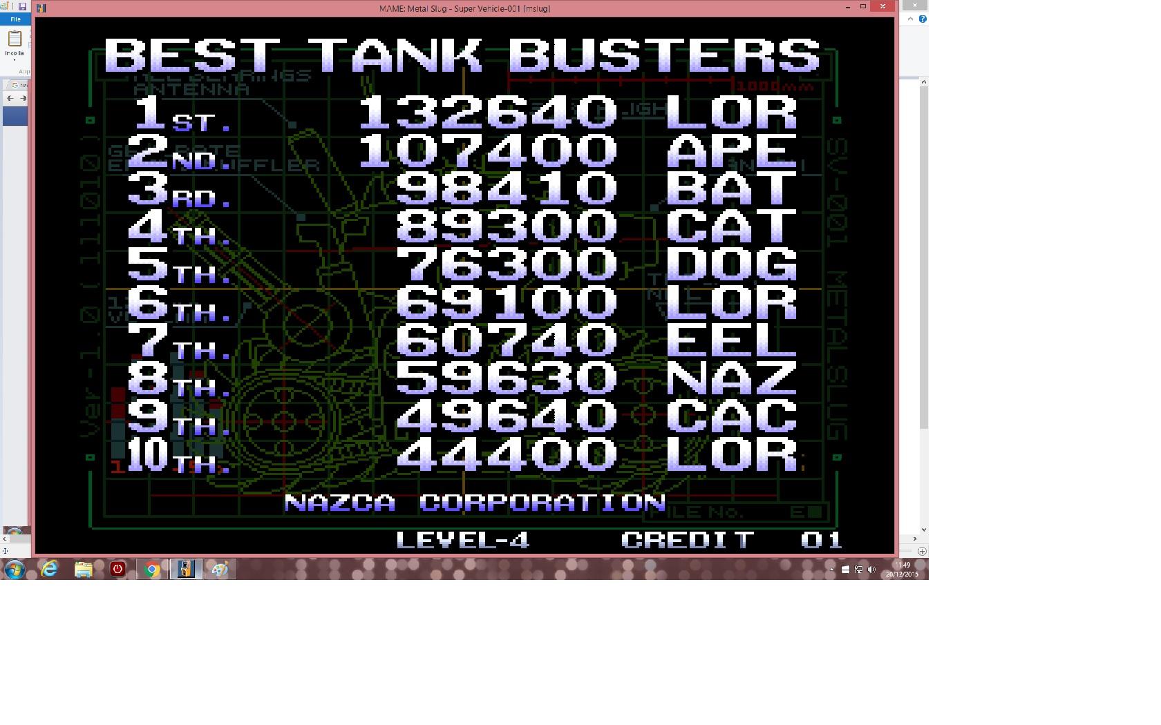 Metal Slug [mslug] 132,640 points