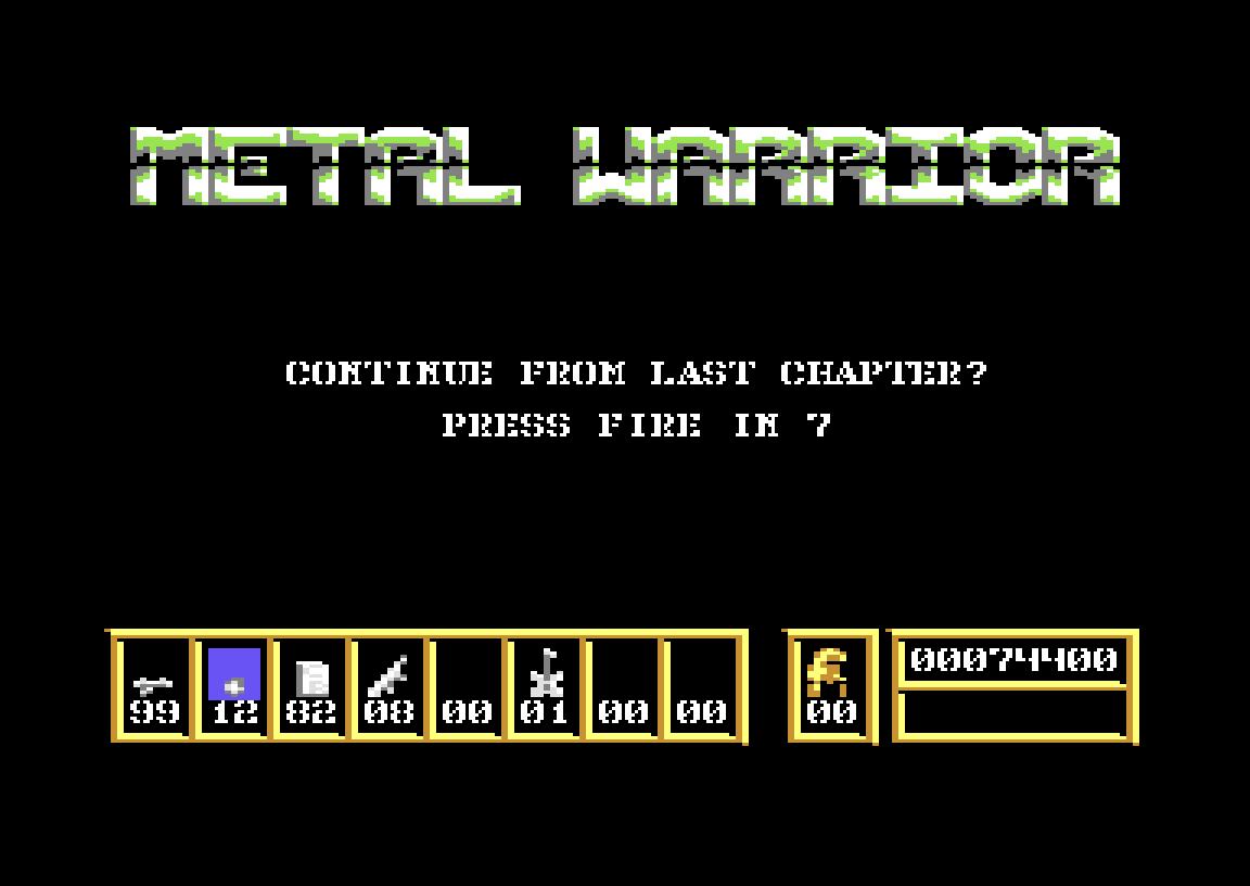 Metal Warrior 74,400 points