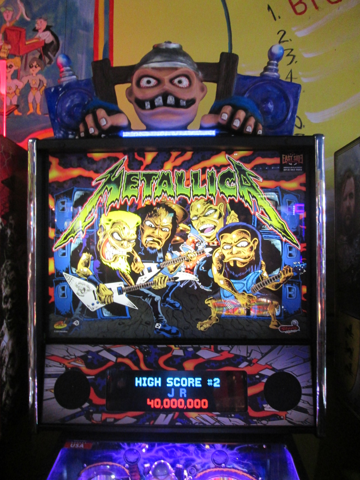 ed1475: Metallica (Pinball: 3 Balls) 5,118,560 points on 2016-08-25 19:09:09