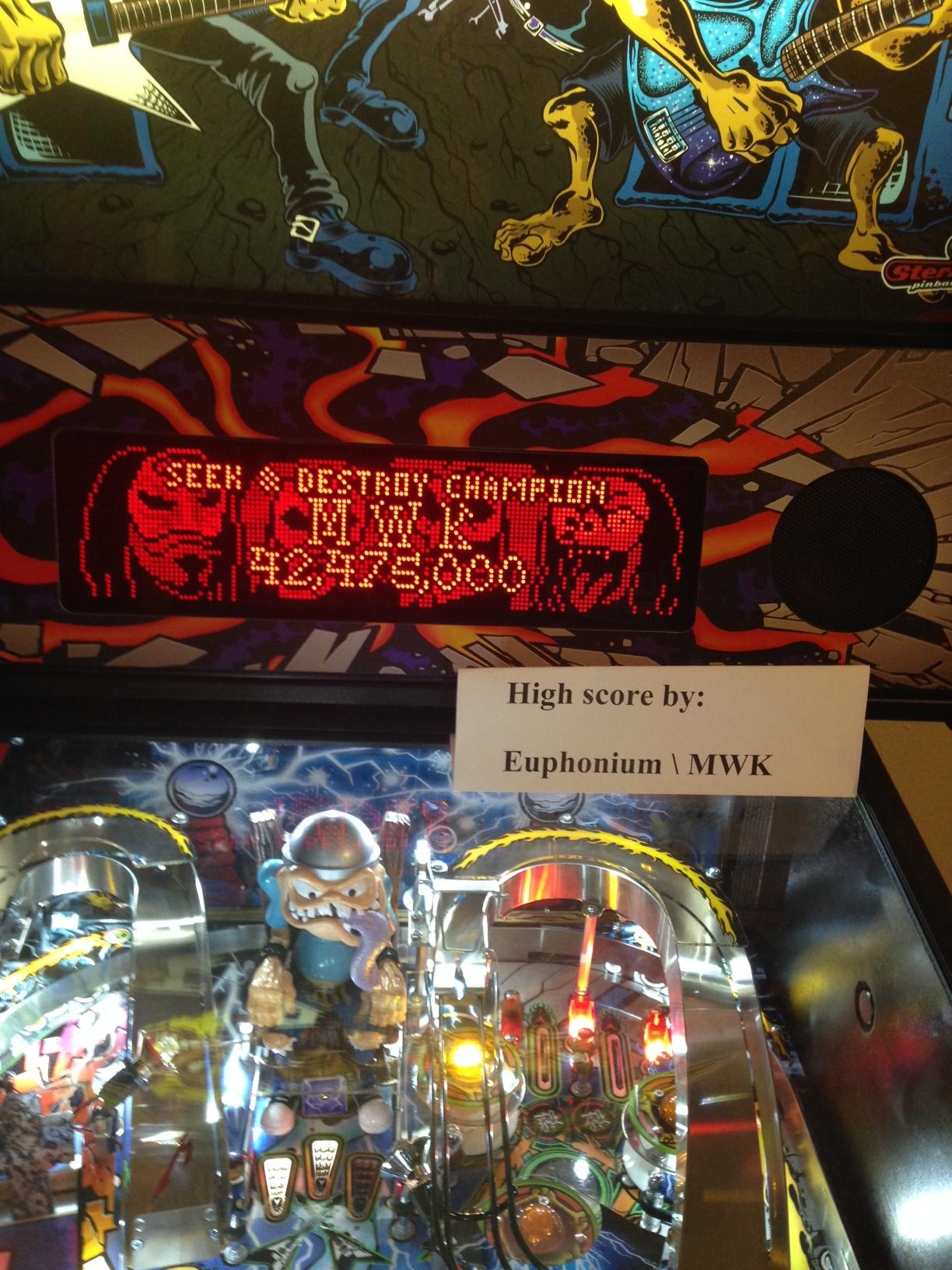 euphonium: Metallica: Seek & Destroy Champion (Pinball Bonus Mode) 42,475,000 points on 2016-07-12 01:04:30