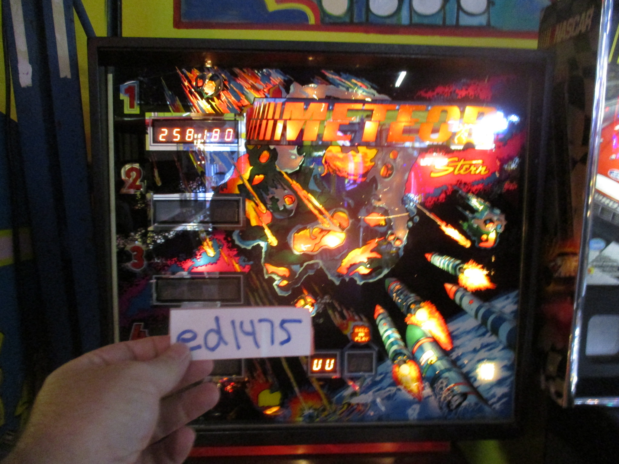 ed1475: Meteor (Pinball: 3 Balls) 258,180 points on 2017-08-24 19:54:21