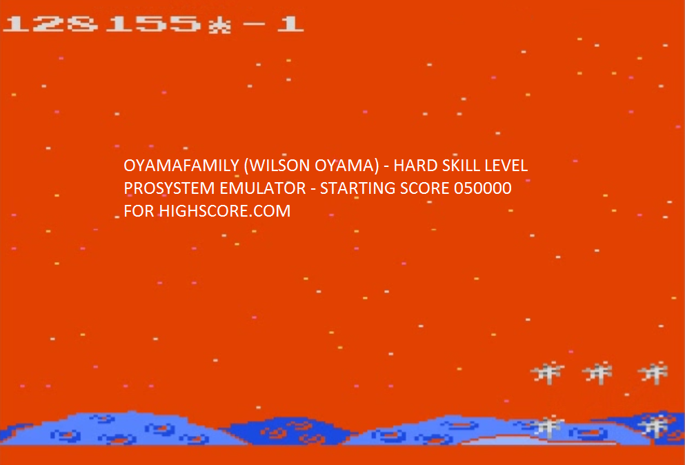 oyamafamily: Meteor Shower: Hard (Atari 7800 Emulated) 128,155 points on 2015-10-07 20:46:37