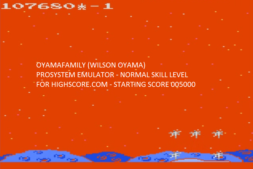oyamafamily: Meteor Shower: Normal (Atari 7800 Emulated) 107,680 points on 2015-10-07 20:20:42