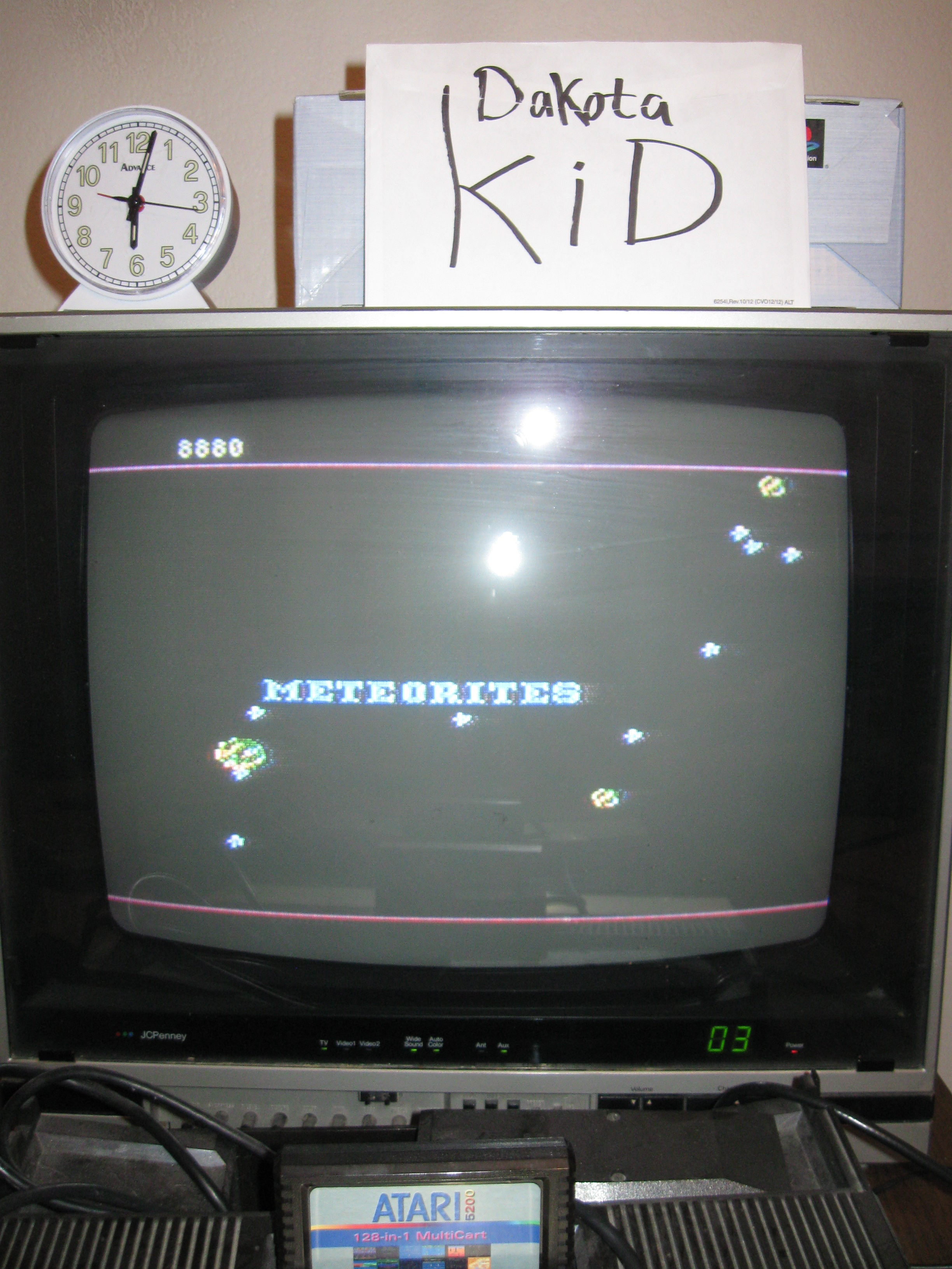DakotaKid: Meteorites (Atari 5200) 8,880 points on 2016-04-16 17:07:19