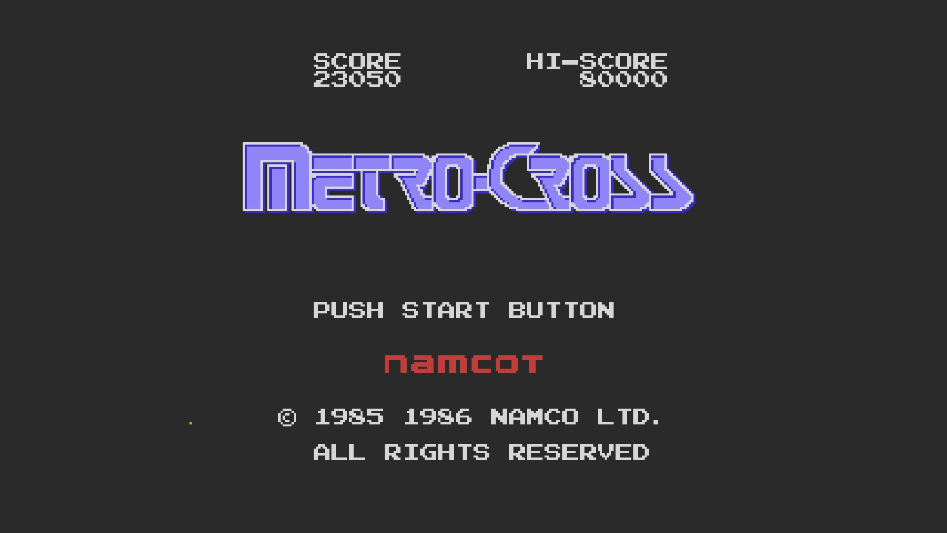AkinNahtanoj: Metro-Cross (NES/Famicom Emulated) 23,050 points on 2020-09-08 03:51:26