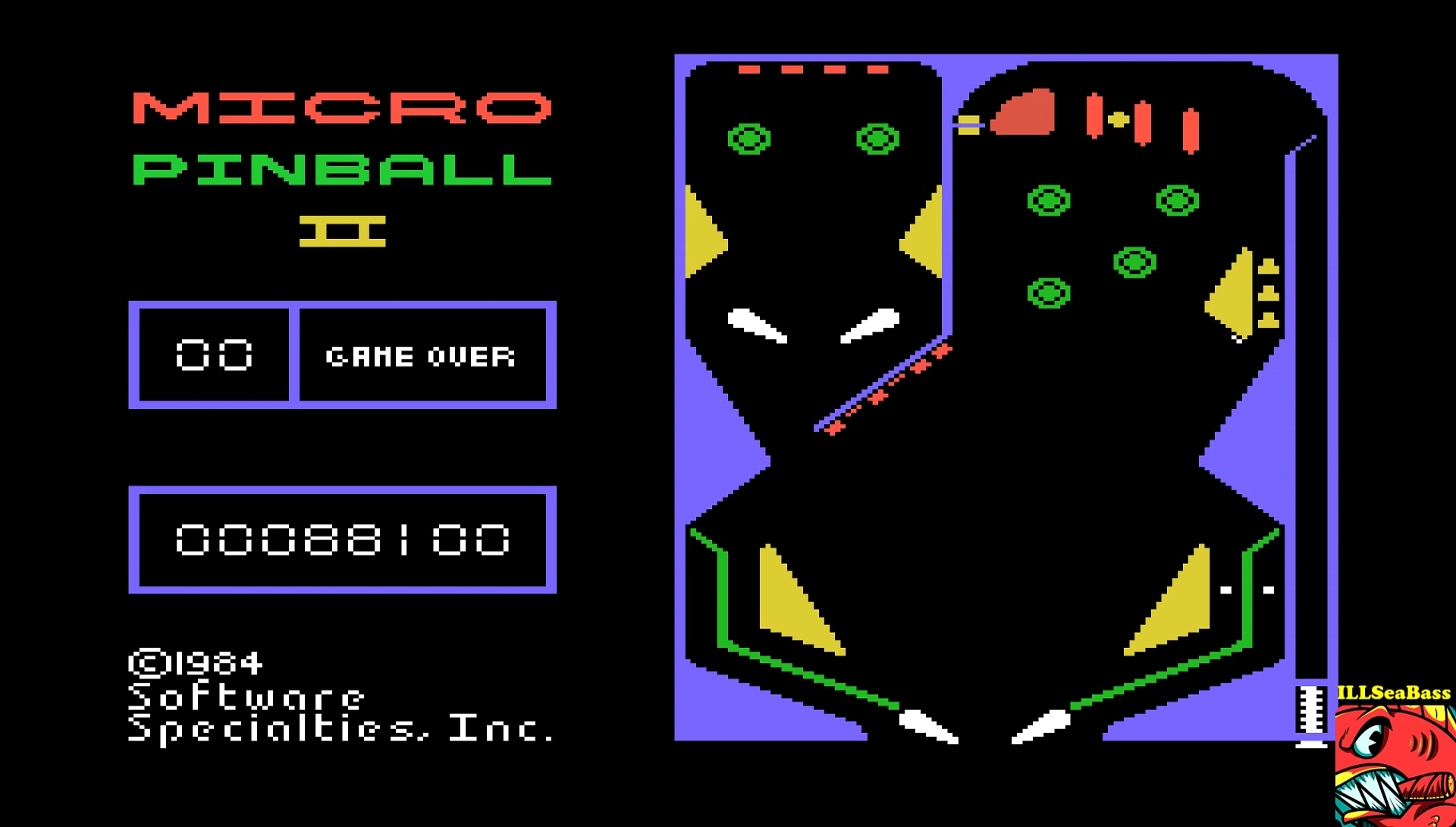 ILLSeaBass: Micro Pinball (TI 99/4A Emulated) 88,100 points on 2017-05-03 15:29:40