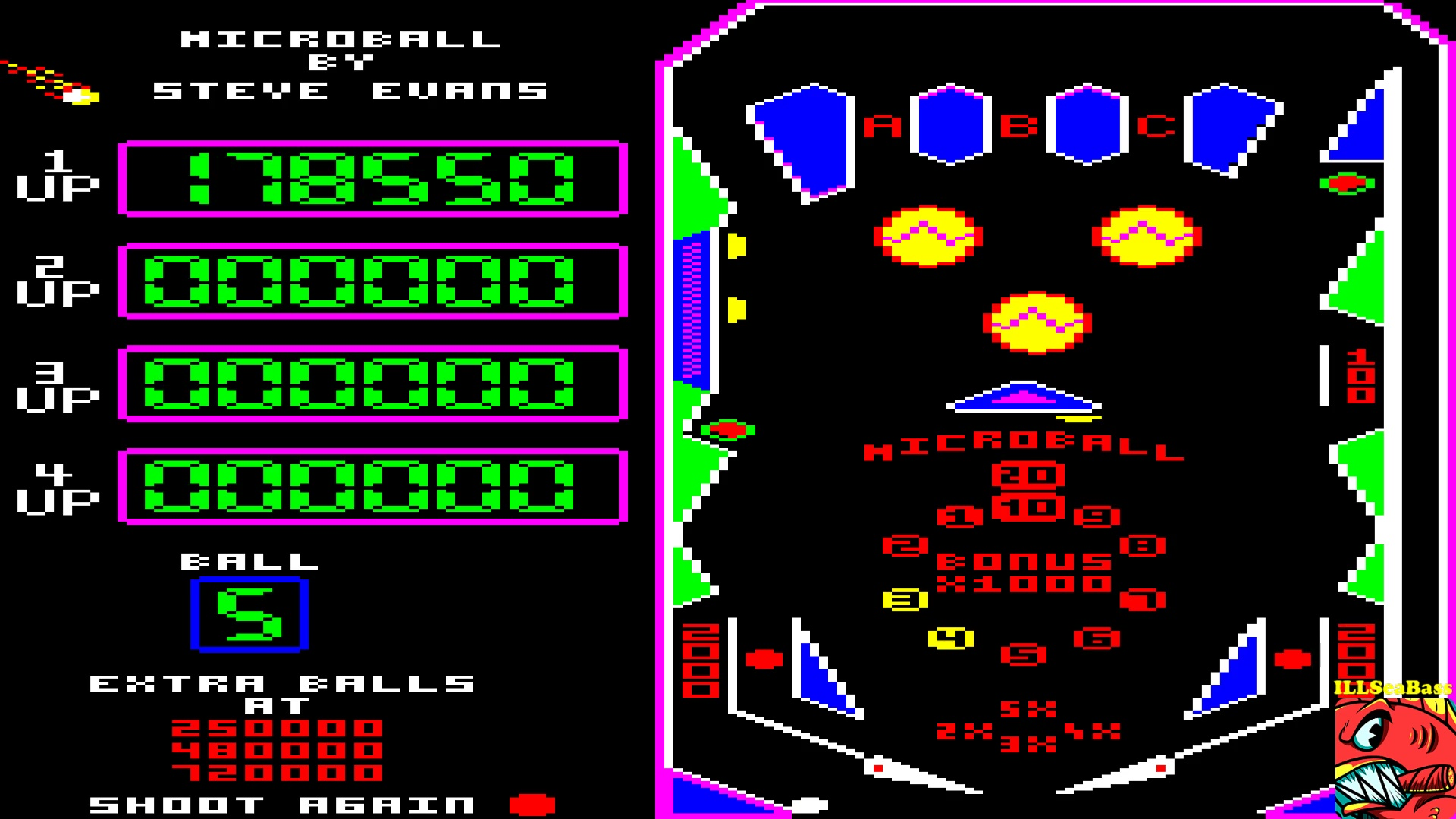 ILLSeaBass: MicroBall (BBC Micro Emulated) 178,550 points on 2017-10-11 23:22:41
