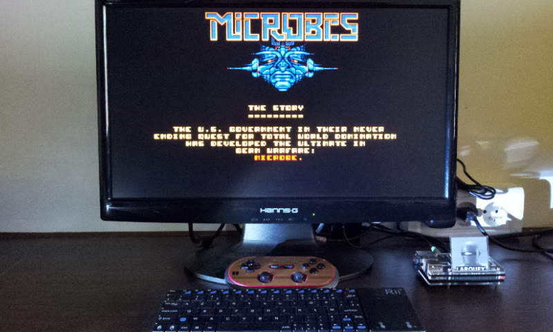Larquey: Microbes (Amiga Emulated) 85,010 points on 2017-08-26 11:39:12