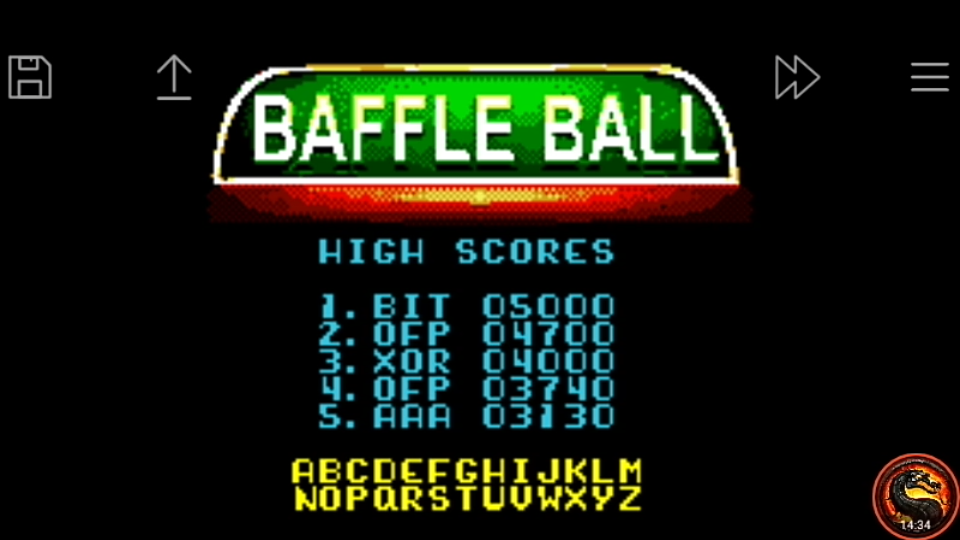 omargeddon: Microsoft Pinball Arcade: Baffle Ball (Game Boy Color Emulated) 4,700 points on 2020-10-20 17:40:07
