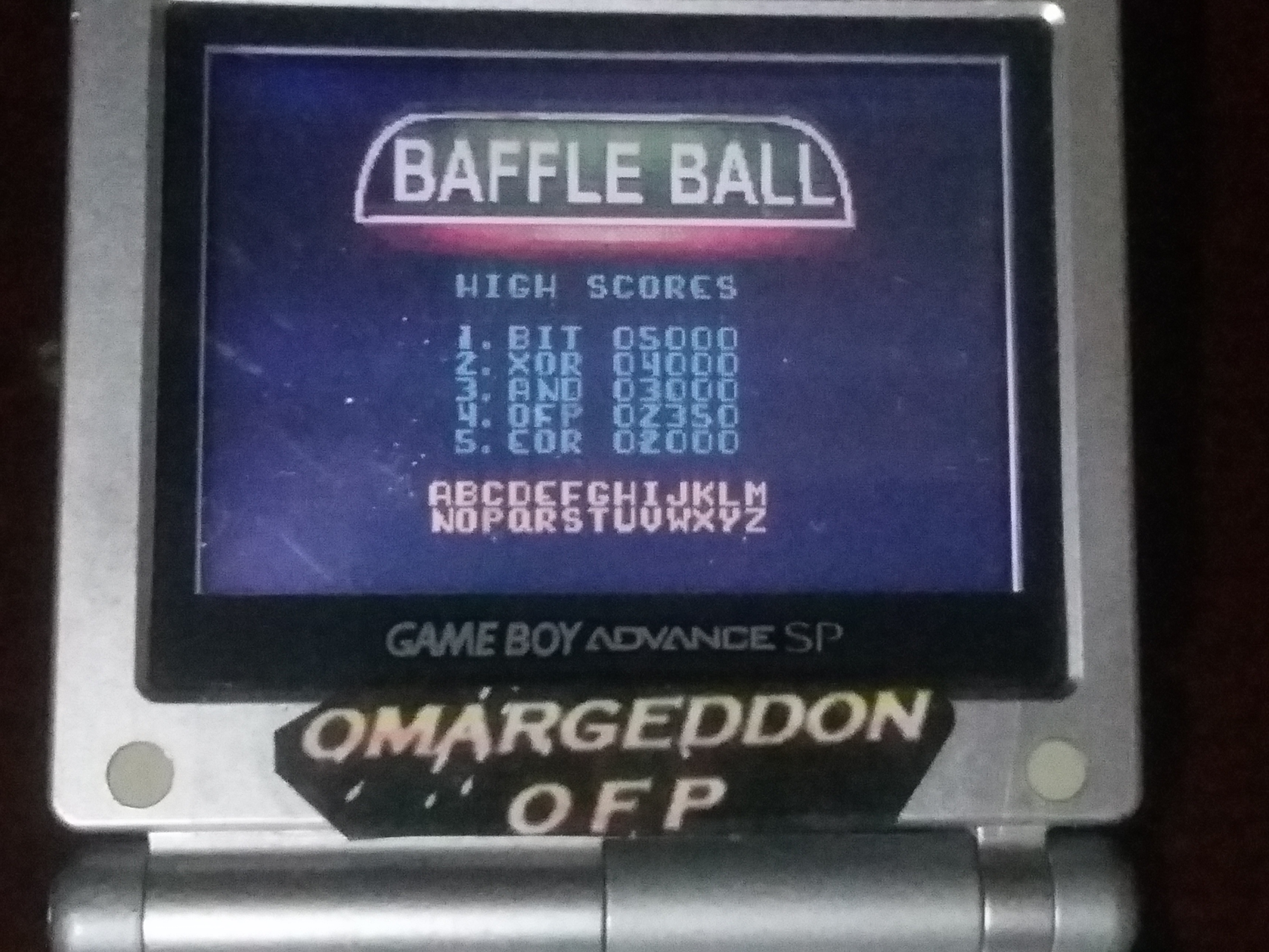 omargeddon: Microsoft Pinball Arcade: Baffle Ball (Game Boy Color) 2,350 points on 2018-01-29 01:08:06