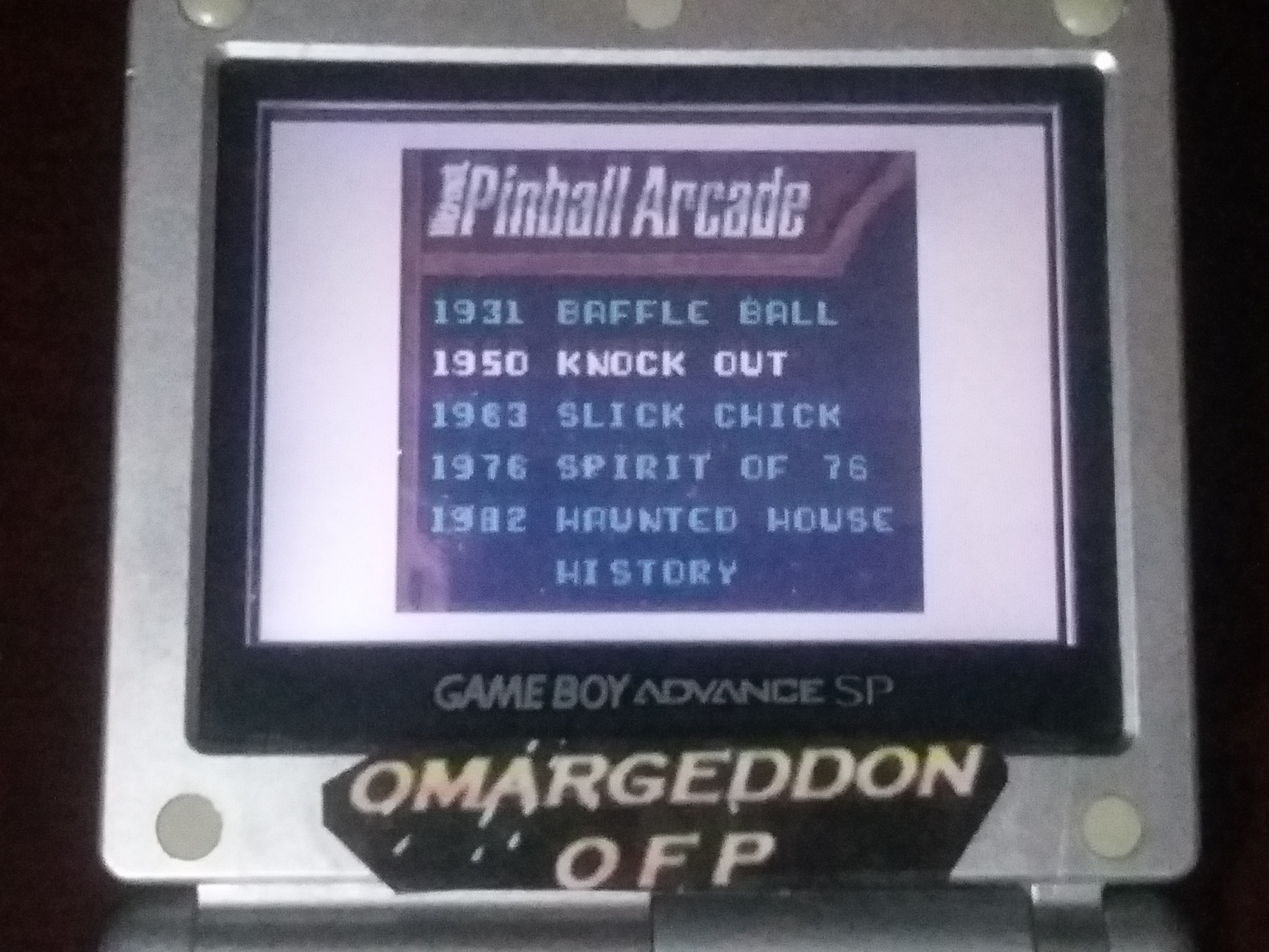 omargeddon: Microsoft Pinball Arcade: Knock Out (Game Boy Color) 9,450 points on 2018-01-29 17:22:49