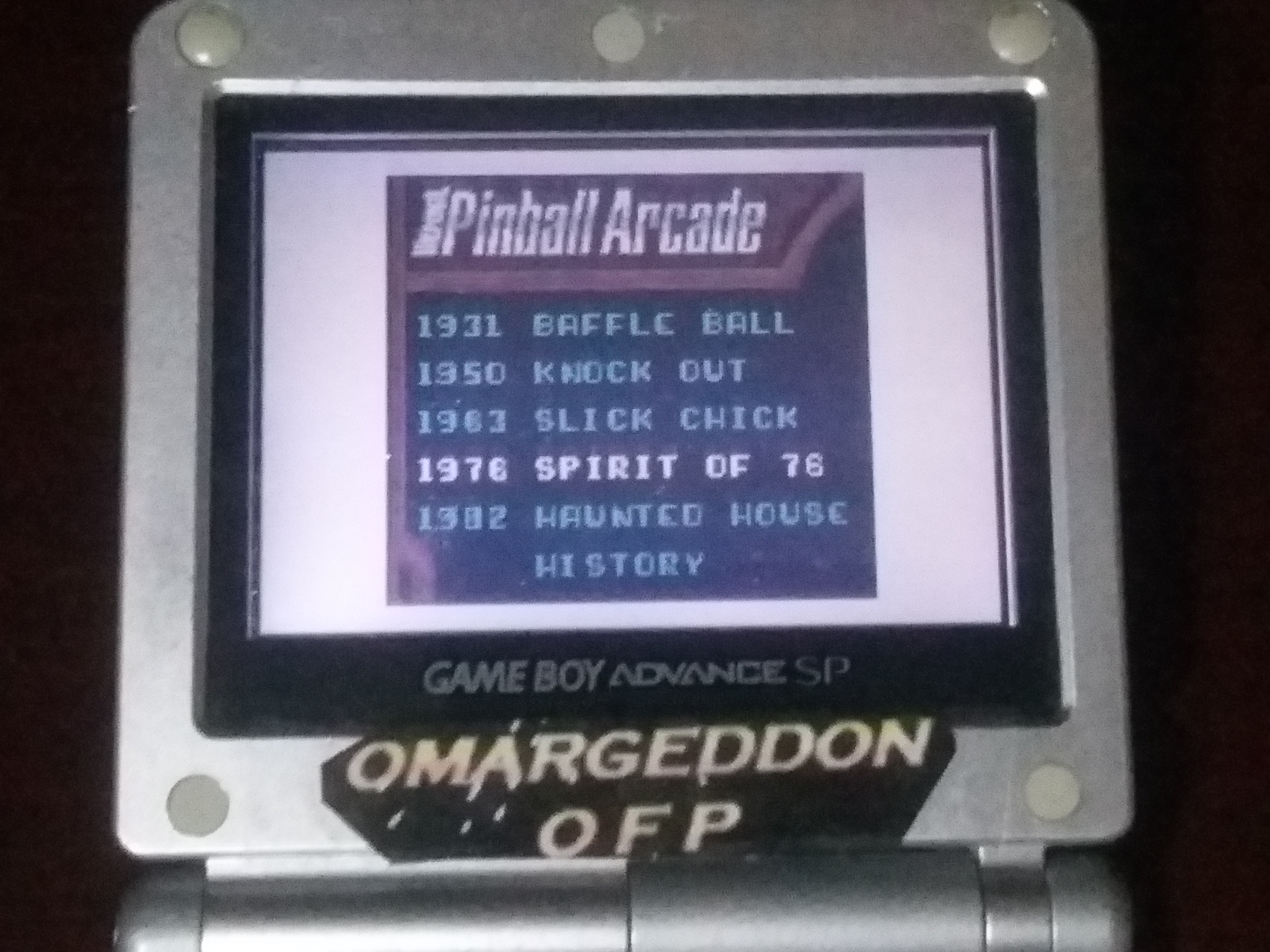 omargeddon: Microsoft Pinball Arcade: Spirit of 76 (Game Boy Color) 69,350 points on 2018-01-29 18:22:04