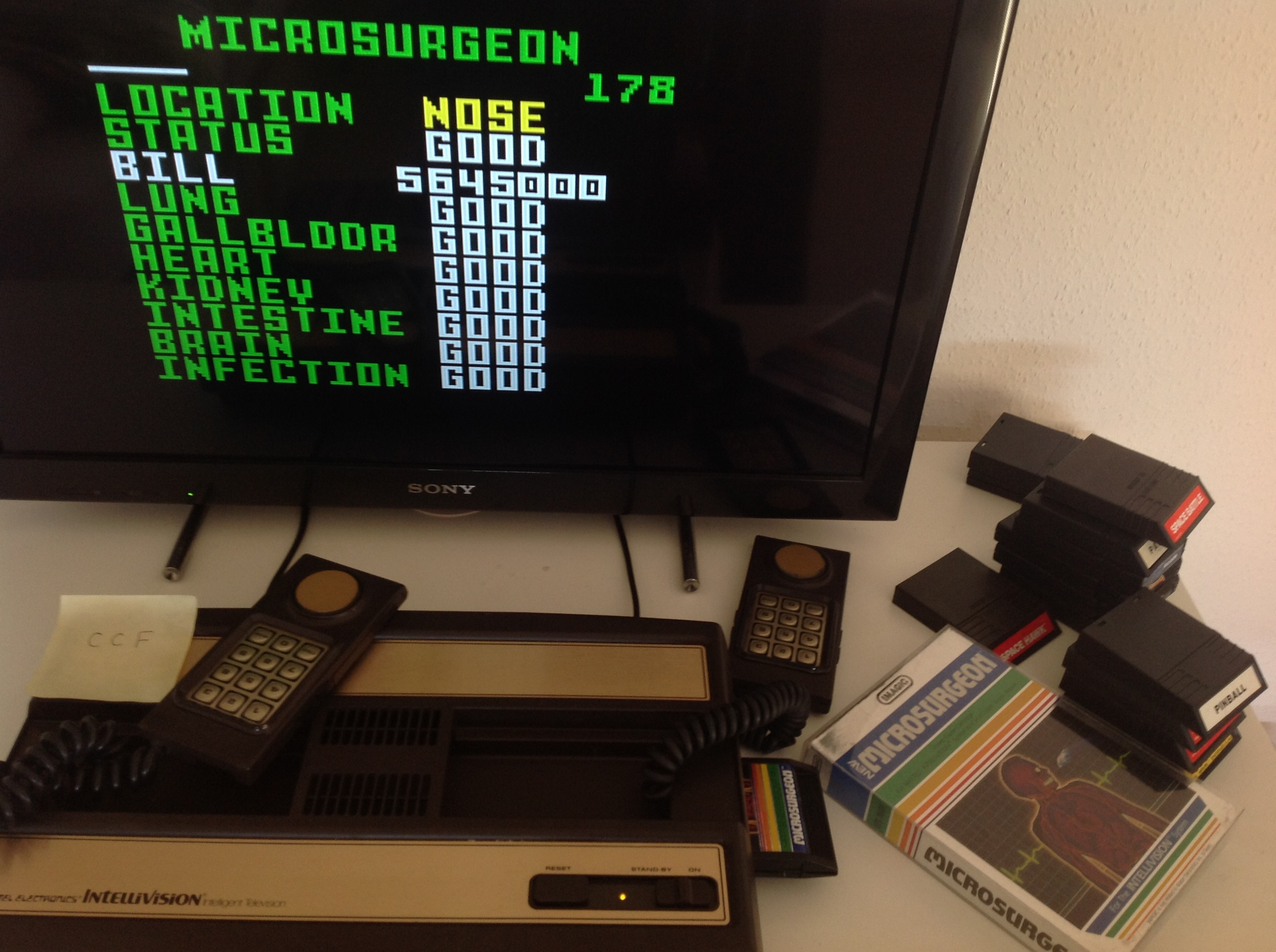CoCoForest: Microsurgeon (Intellivision) 5,645,000 points on 2018-09-27 11:24:23