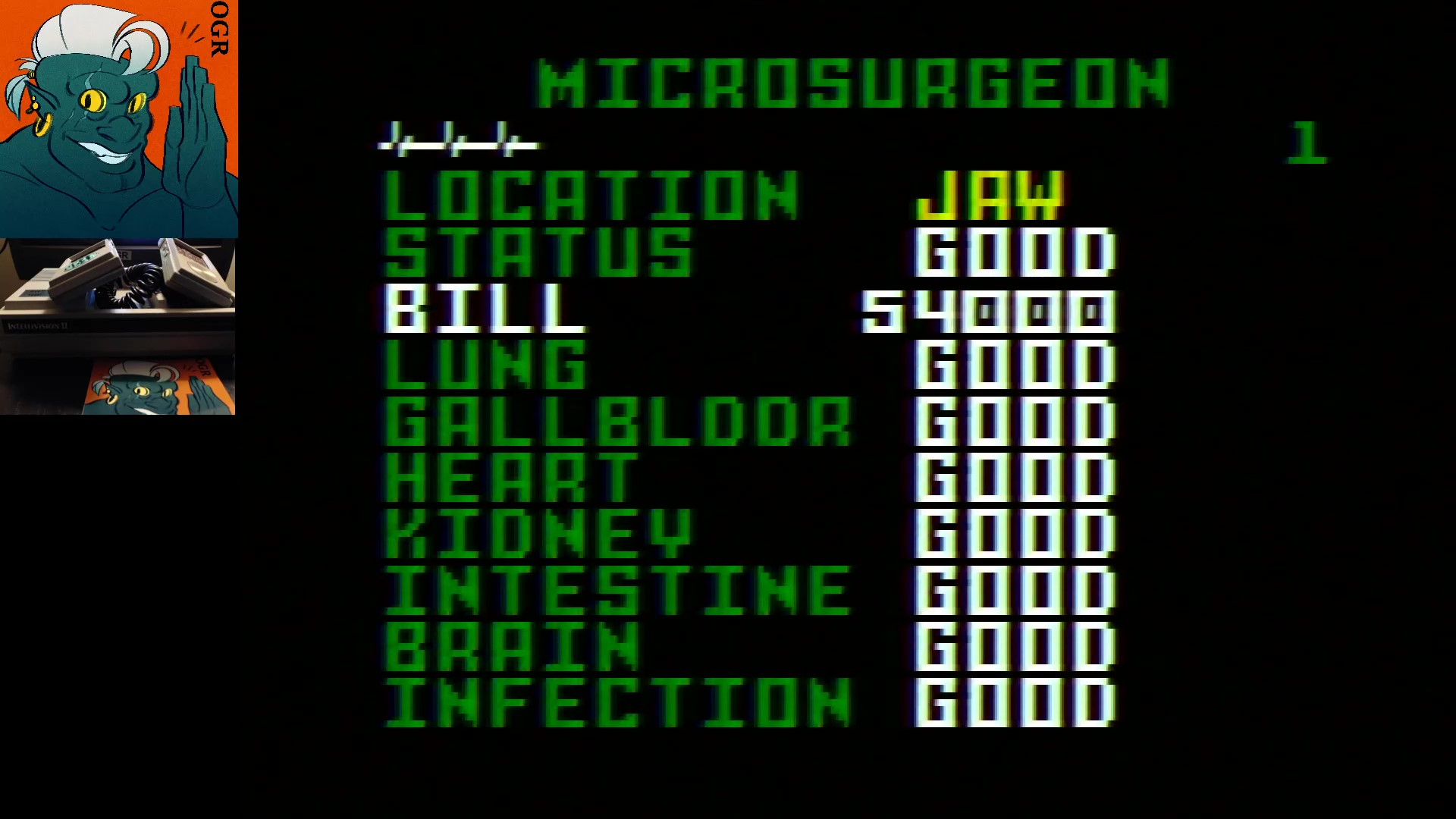 AwesomeOgre: Microsurgeon (Intellivision) 54,000 points on 2020-02-11 04:54:49
