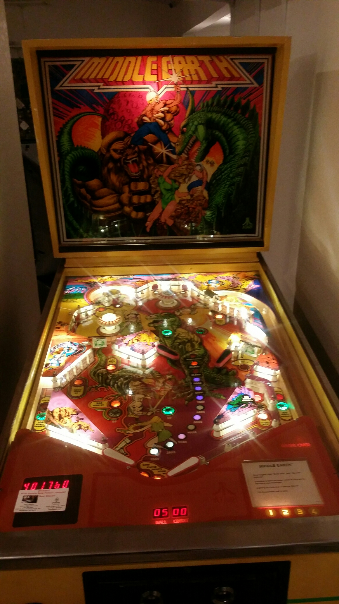 SeanStewart: Middle Earth (Pinball: 5 Balls) 401,760 points on 2017-07-24 22:54:49