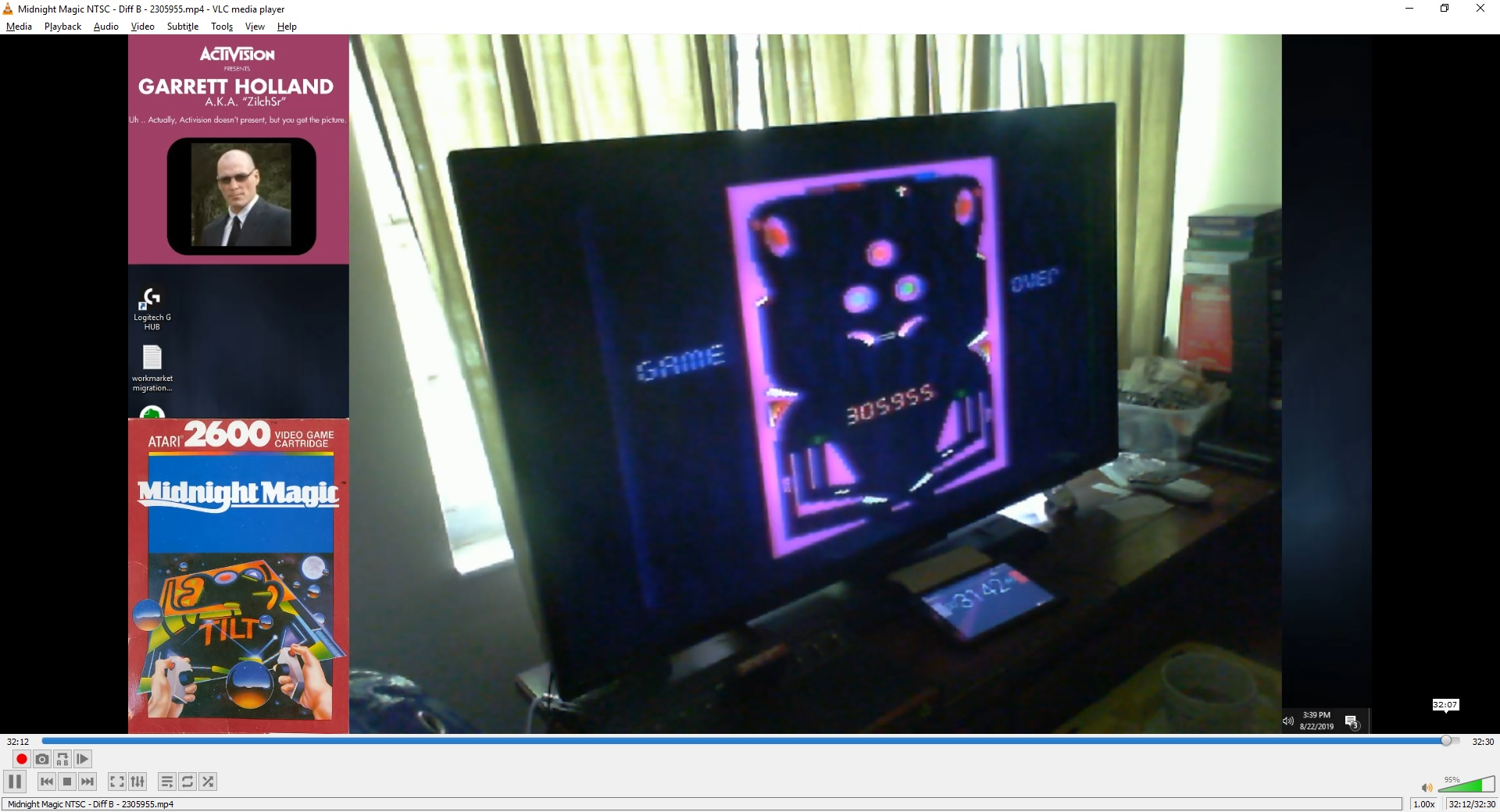 ZilchSr: Midnight Magic (Atari 2600 Novice/B) 2,305,955 points on 2019-09-30 21:37:12