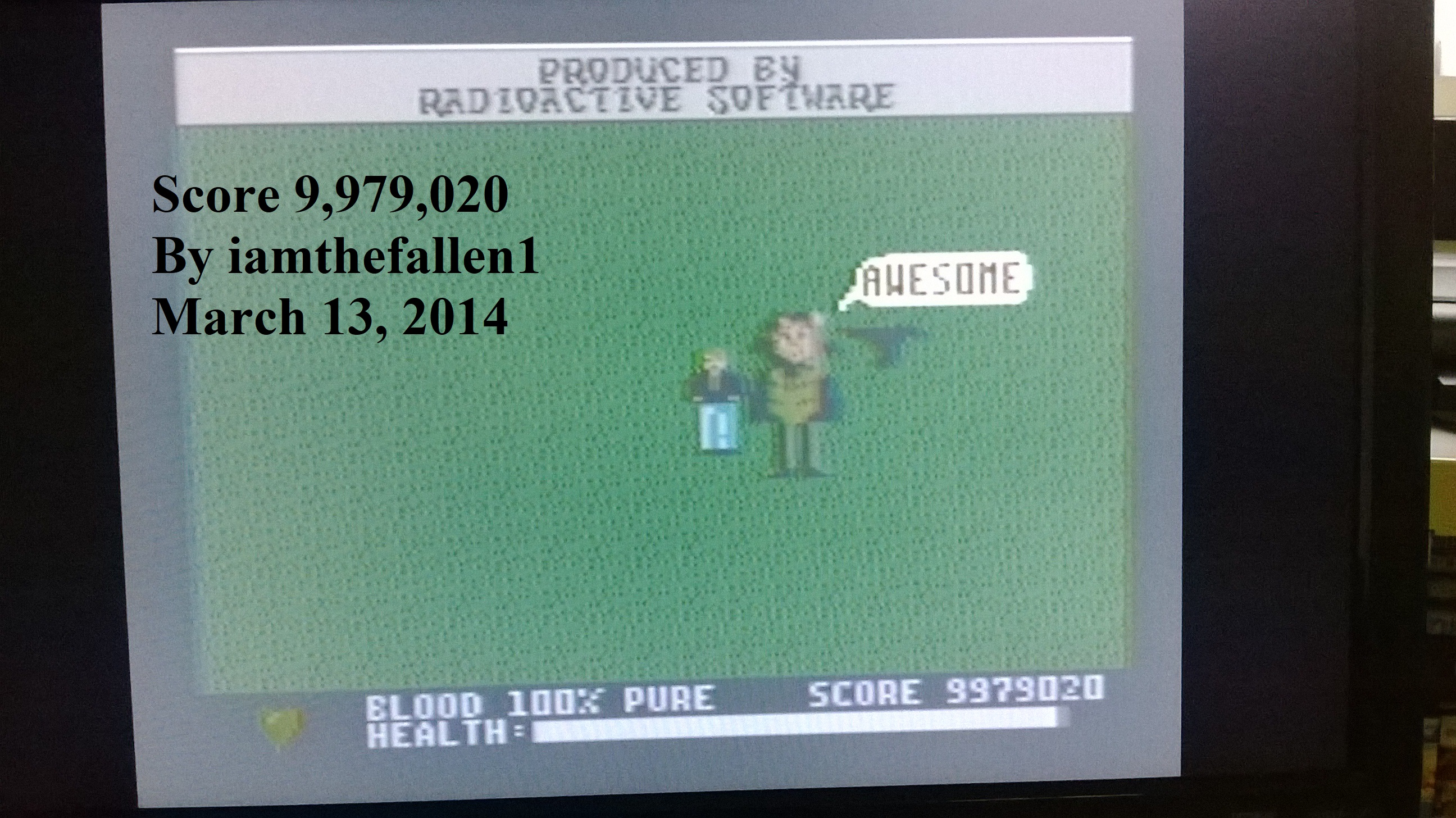 iamthefallen1: Midnight Mutants (Atari 7800) 9,979,020 points on 2018-08-26 22:59:11
