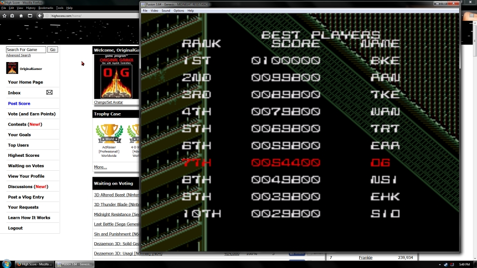 OriginalGamer: Midnight Resistance (Sega Genesis / MegaDrive Emulated) 54,400 points on 2016-06-30 16:18:02