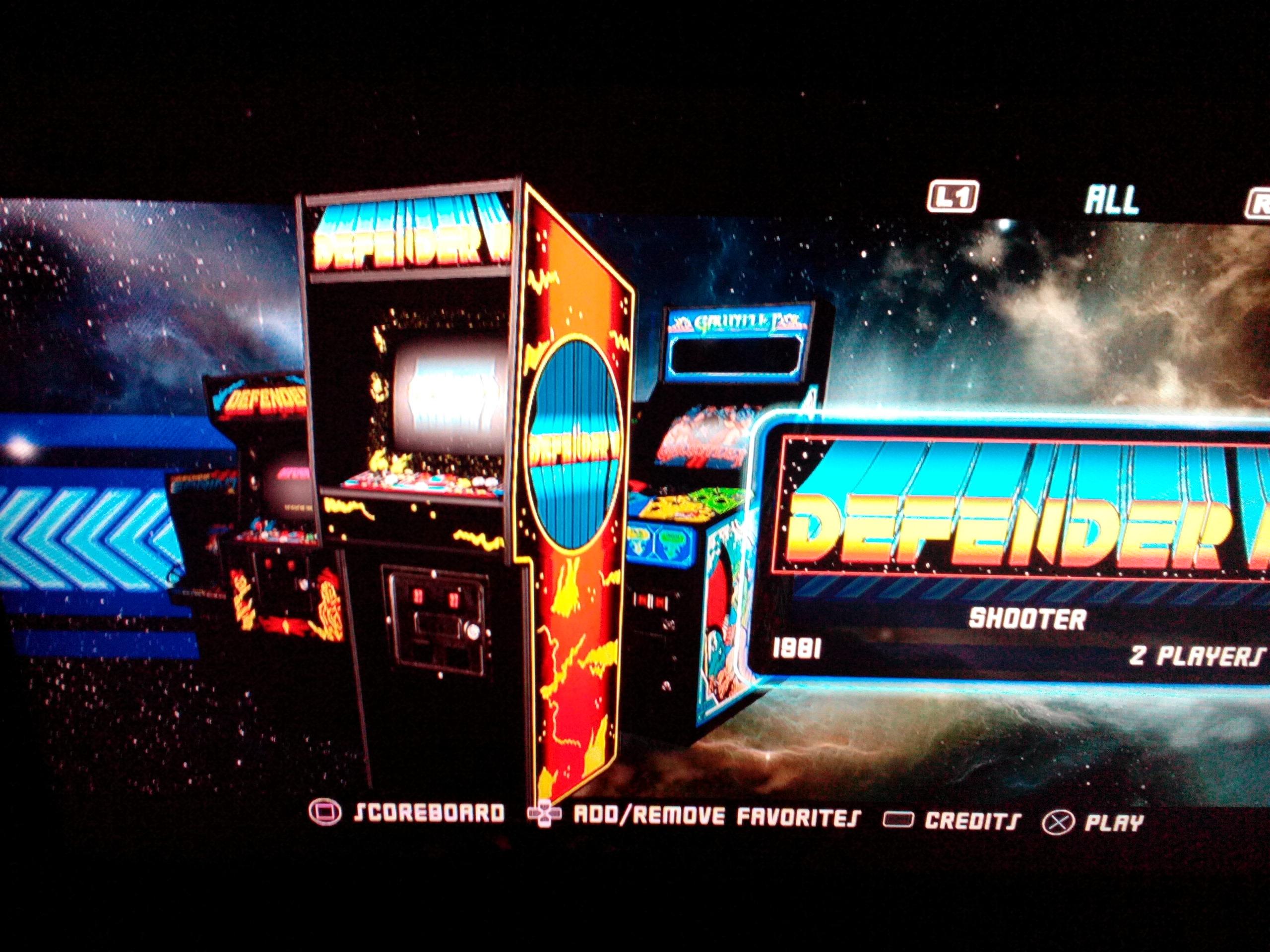 Midway Arcade Origins: Defender II 3,475 points