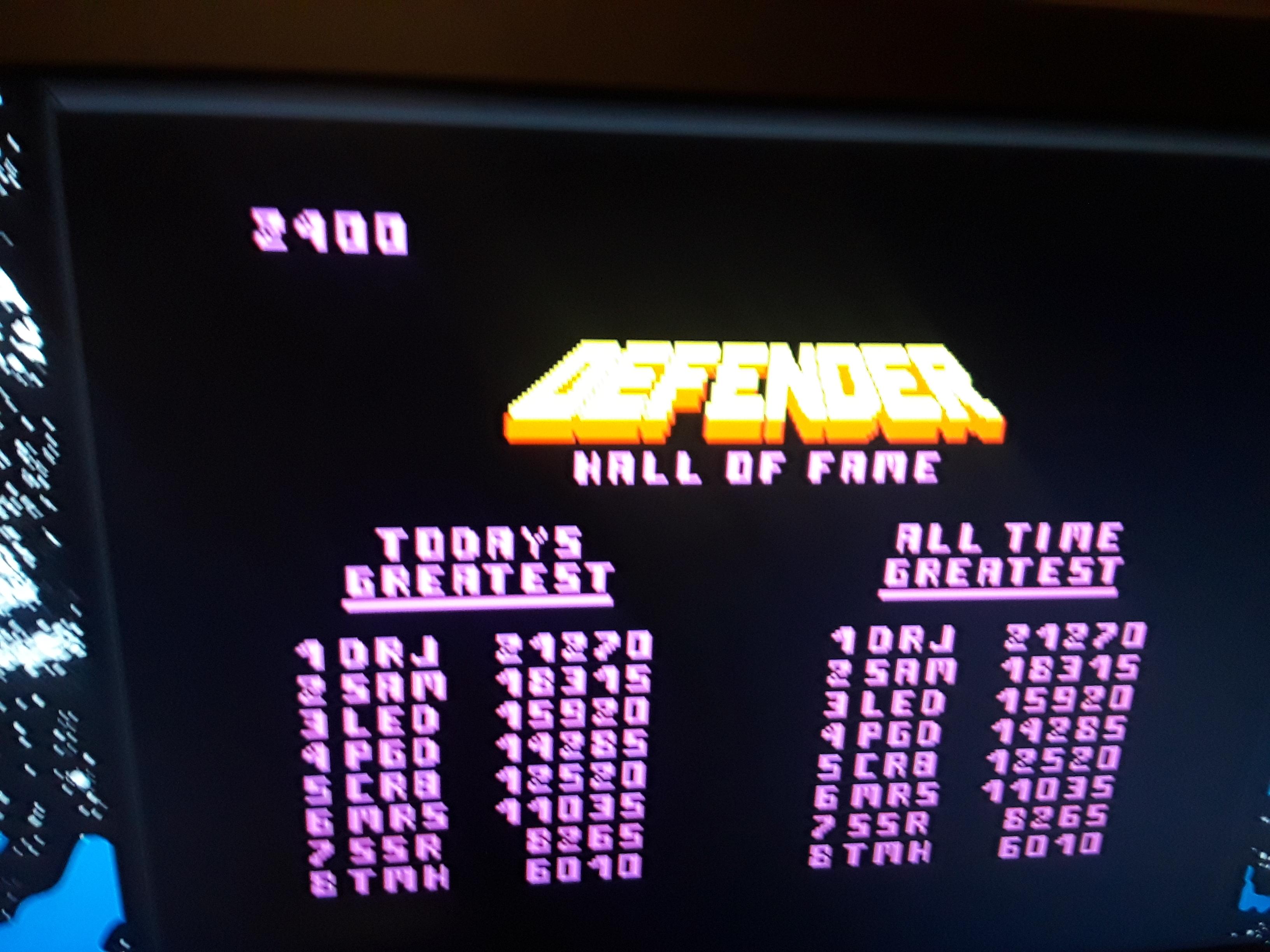 Midway Arcade Origins: Defender 2,400 points